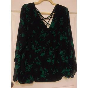 torrid Tops - Torrid floral blouse - Size 3